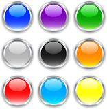 Glossy buttons. Stock Image
