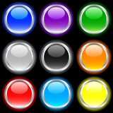Glossy buttons. royalty free illustration