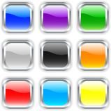 Glossy buttons. Royalty Free Stock Image