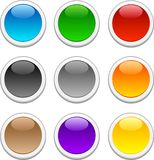 Glossy buttons. royalty free stock images