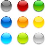 Glossy buttons. Stock Photos