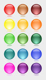 Glossy buttons Royalty Free Stock Photos