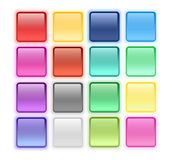 Glossy buttons Stock Images