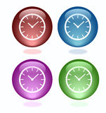 Glossy buttons. There is some beautiful shiny buttons on the background.Vector illustration Royalty Free Stock Photos