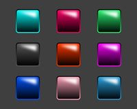 Glossy buttons. For dark backgrounds Stock Illustration