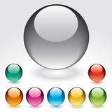 Glossy buttons Stock Photo