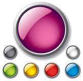 Glossy buttons Royalty Free Stock Image