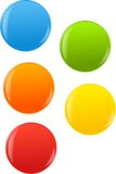 Glossy buttons, balls. Pack of colored 3d glossy balls, spheres Stock Photo