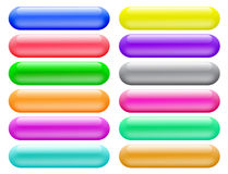 Glossy Buttons Banners For Website Stock Photos