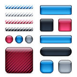 Glossy buttons and bars Royalty Free Stock Photography