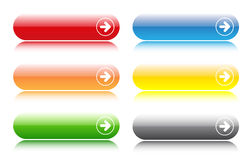 Glossy buttons bars Stock Image