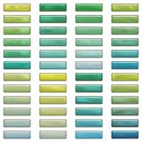 Glossy buttons in blue and green Stock Images