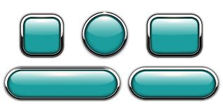 Glossy buttons blue Royalty Free Stock Photo