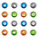 Glossy buttons - classic web icons Royalty Free Stock Images