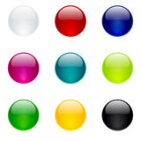 Glossy Buttons Collection Royalty Free Stock Image
