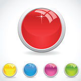 Glossy buttons ,easy to edit Royalty Free Stock Photos