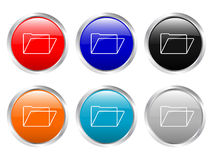 Glossy buttons folder Royalty Free Stock Photos