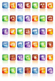 Glossy buttons with icons Stock Image
