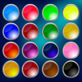 Glossy Buttons Mix Royalty Free Stock Photo