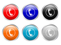Glossy buttons phone Stock Image