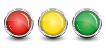 Glossy buttons. Stock Images