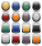 Glossy buttons set. Vector icons Royalty Free Stock Image