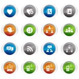 Glossy Buttons - Social media icons Royalty Free Stock Image