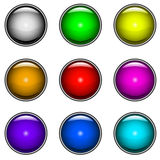 Glossy buttons vector set Royalty Free Stock Photos