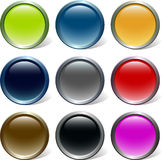 Glossy buttons vector set Stock Image