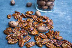 Glossy Candied Pecans Royalty Free Stock Photo
