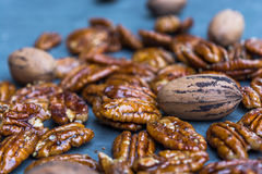 Glossy Candied Pecans Royalty Free Stock Images