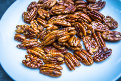 Glossy Candied Pecans Royalty Free Stock Image