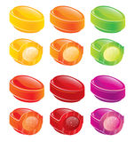Glossy candies Stock Photo