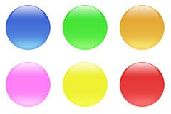 Glossy Candy Crystal Buttons. Glass like semi transparent template web buttons royalty free illustration