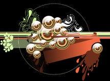 Glossy Caramel Background Stock Photography