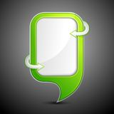 Glossy Chat Bubble Stock Photography