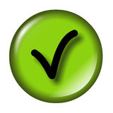 Glossy check icon Royalty Free Stock Photography