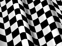 Glossy checked flag Royalty Free Stock Image