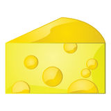Glossy cheese Royalty Free Stock Image