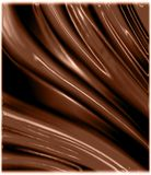 Glossy chocolate waves Stock Image