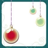Glossy christmas ball background Royalty Free Stock Photos