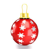 Glossy Christmas Bauble Royalty Free Stock Photography