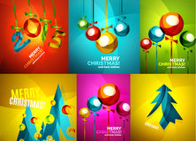 Glossy Christmas cards set Stock Image