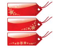 Glossy christmas tags Stock Photo