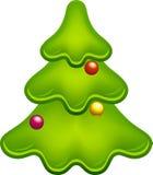 Glossy christmas tree Royalty Free Stock Image