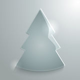Glossy christmas tree Royalty Free Stock Image