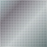 Glossy chrome grid with disc-shaped holes. EPS 8 Royalty Free Stock Images