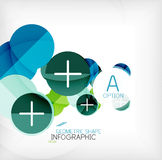 Glossy circle geometric shape info background Royalty Free Stock Images