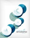Glossy circle geometric shape info background Stock Photography