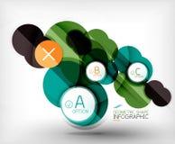 Glossy circle geometric shape info background Stock Images